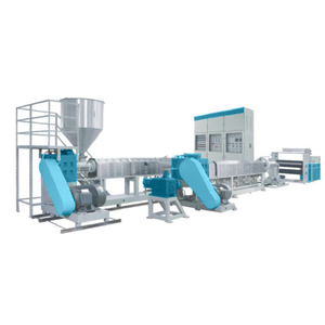 expanded twin screw barrel extruder plastic foam extrusion line