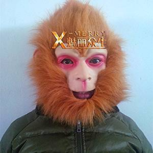 2015 - X-MERRY The monkey king overhead mask well-known characters from Journey to the West Latex good quality Halloween Mask