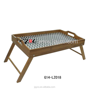 factory price bamboo folding tv tray, decorative tv trays with customized  design and FDA, LFGB certificate