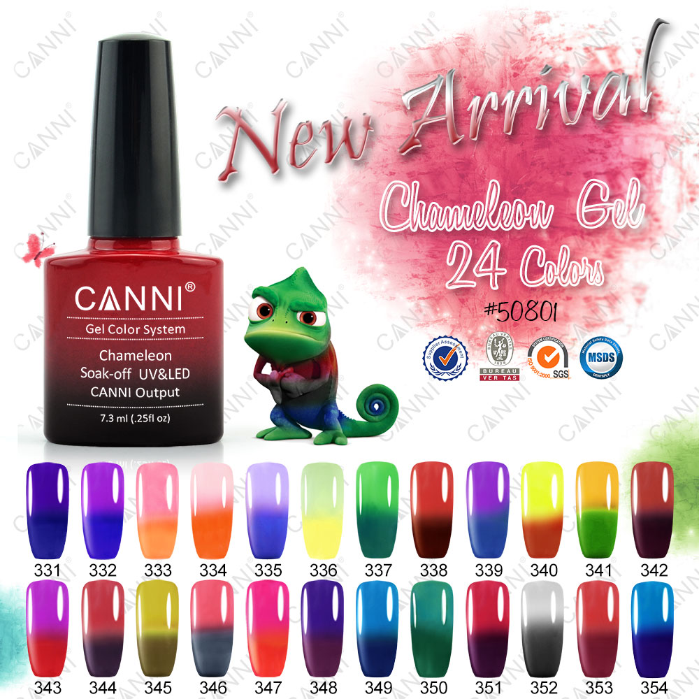 50801 CANNI Chameleon Gel Polish Factory Wholesale 7.3ml Three Steps Temperature Color Changing Thermal Gel Nail Polish