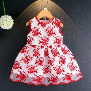 S12078B 2016 Super Deal Summer Cotton Baby Dress Princess Dress Puff Sleeveless Cute Fashionable Baby Infant Dress