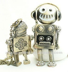 best selling robot pendant fashion alloy necklace