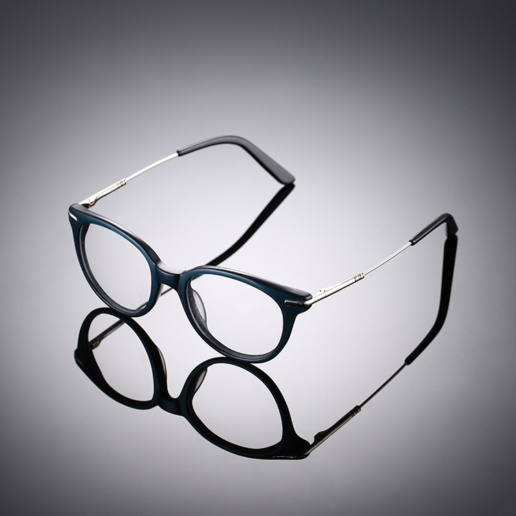 New design metal and plastic material stripes CCP9 durable optical eyewear frame