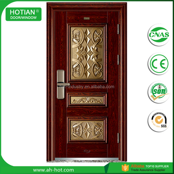2017 Latest Design Cheap Price Steel Door Indian House Main Gate Designs  Security Entry Door Part 94