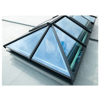 Soundproof Bullet Proof Natural Light Sun Skylight China Factories Automatic Flat Roof Skyview Roof Windows Skylight