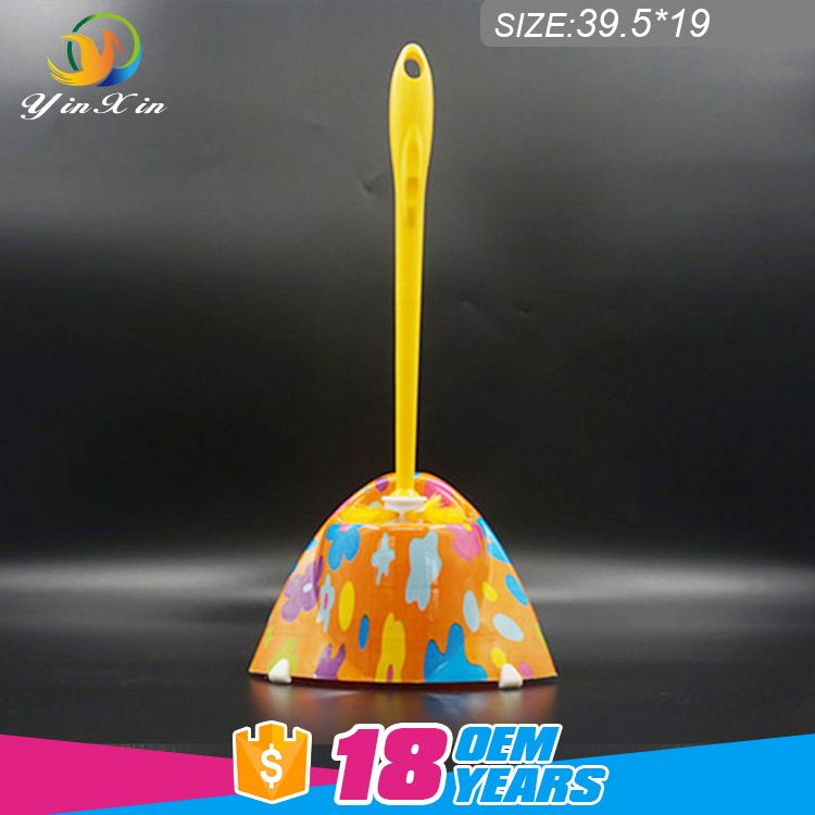 2017 hot sale standard toilet brush & holder with plastic