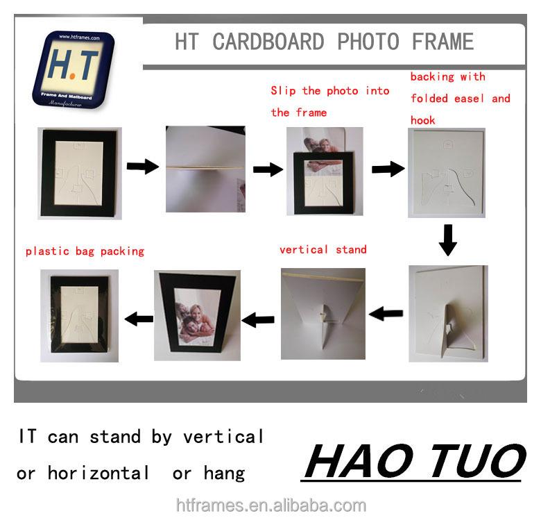 Cartón Negro Foto Marco 4x6 5x7 8x10. Marcos De Fotos De Papel Para ...
