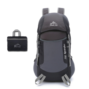 custom fashion foldable nylon waterproof hiking backpack