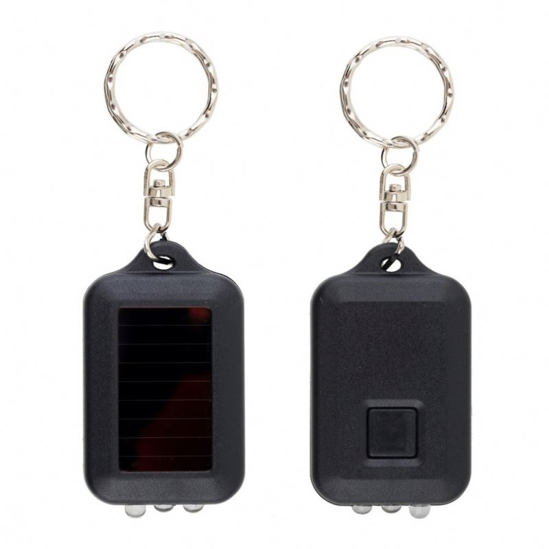 Mini Solar Power Rechargeable LED Flashlight 3 LED Flashlight Keychain Light Lamp Torch LED Light Bulb Key Chain LED Light