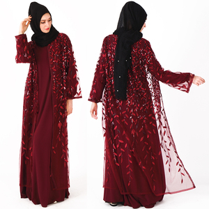 custom designed maxi dress new dubai burqa design with long sleeve print maxi dress with long sleeve
