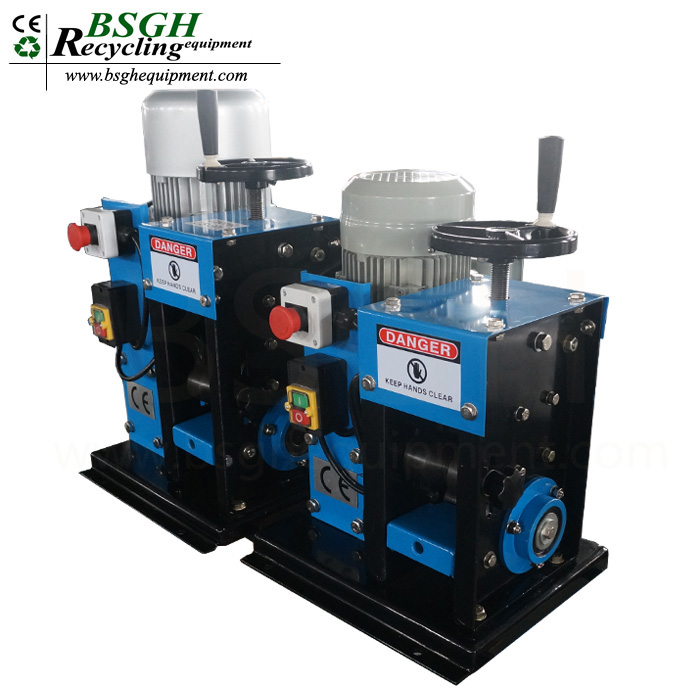 America hot sales model BS-2 scrap copper cable stripper recycling machine used wire processing peeler machine