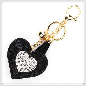 KC201 custom diamond key chain diamond heart keychain
