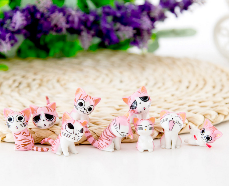 9 types micro view of cat craft chi's sweet home mini doll ornaments