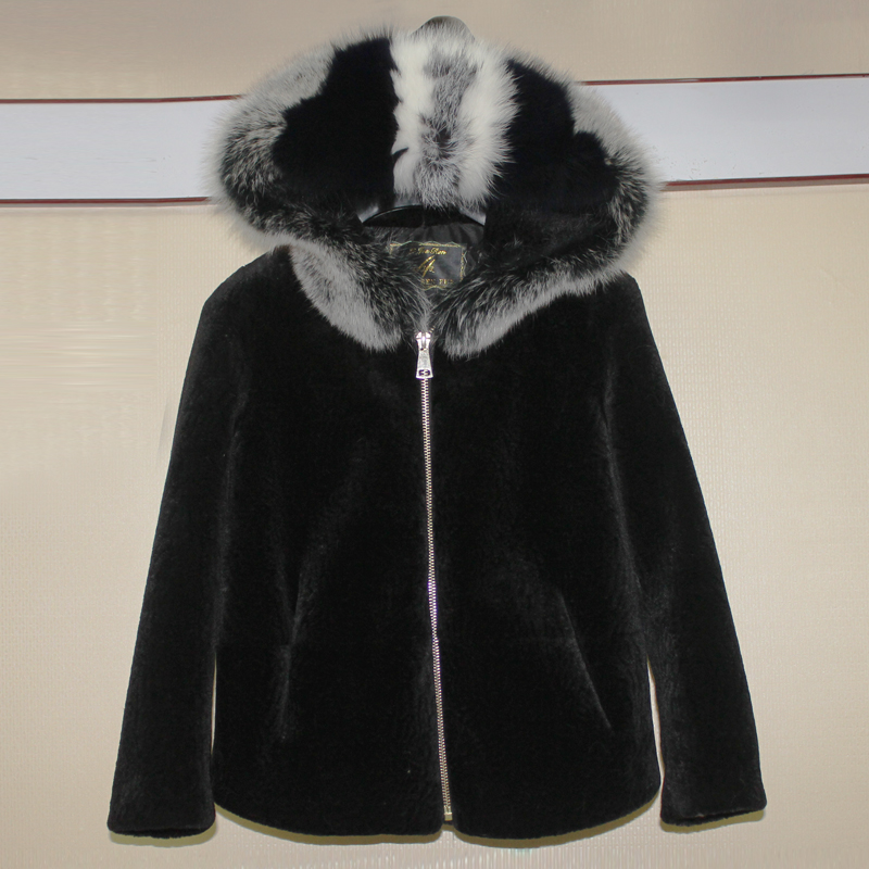 Girls Winter jacket short and long style With fox fur hood
