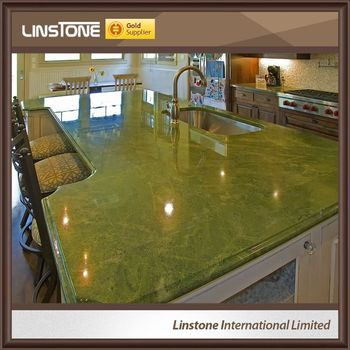 Chinese Stone Green Marble Kitchen Countertop