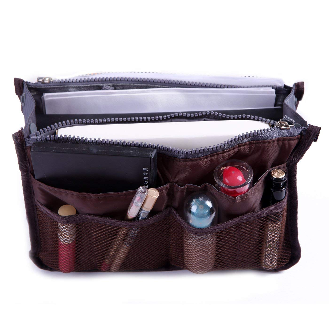 HDE Bag Organizer Oversize Purse Handbag Insert 13 Pockets (13.5 x 7.5 x 8.25)