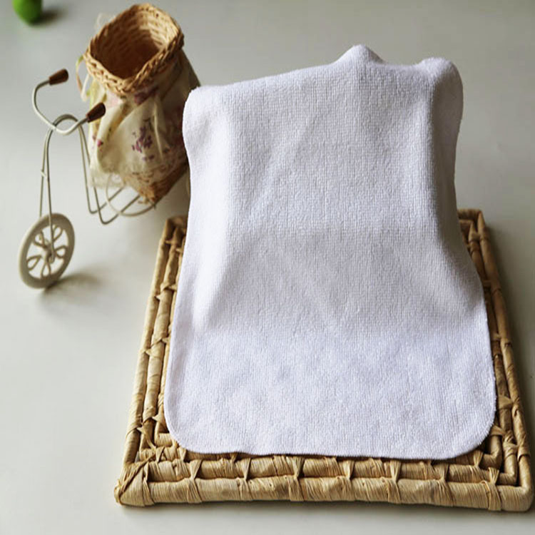 Clearance sale 100% bamboo fiber square pure white baby handkerchief washcloth