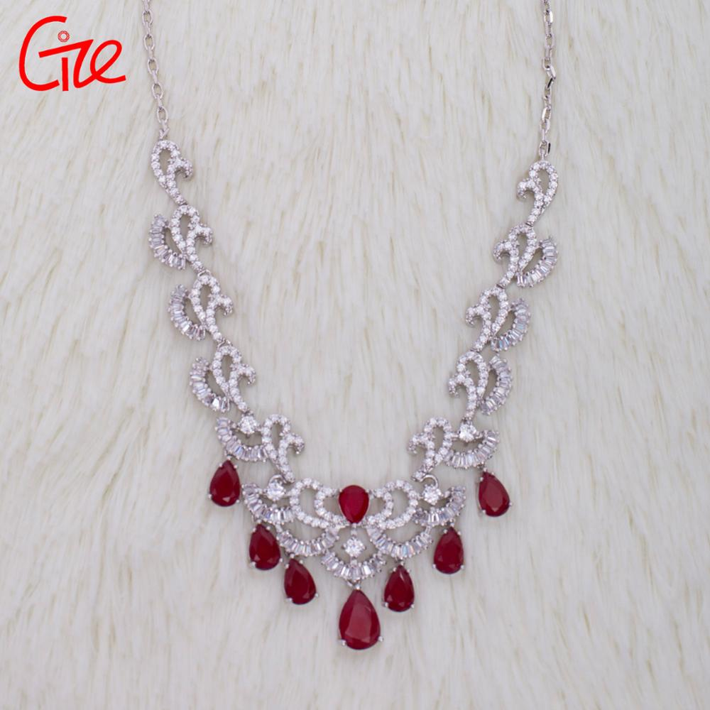 Nigerian accessories jewelry necklace sets  wedding jewelry sets cubic zirconia