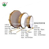 chinese traditional Plastic skin wooden toy tambourine and Hand Drum sets for kids