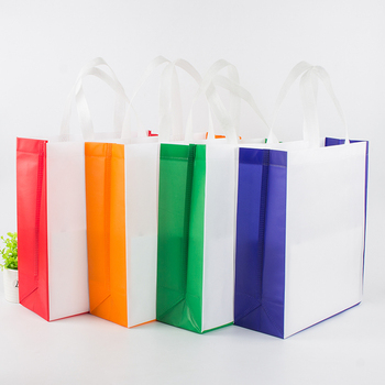 Hot sale supplier Custom Non woven cloth bags with logo printing lamination shopping bags