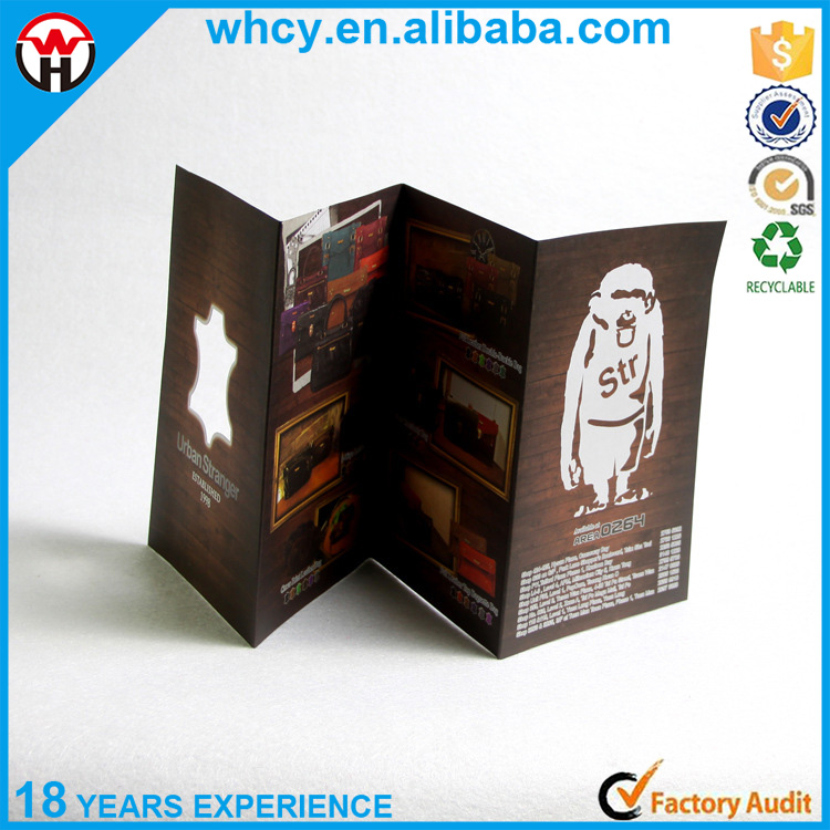 Hot selling printing product for full color printing floding brochure with creative design