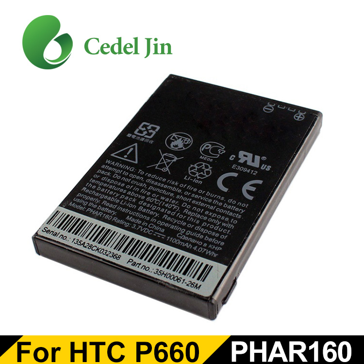 Oem Replacement Battery For Htc Phar160 P660 575 585 586 595 596 C500 C550  C577 C600 Touch Viva Lithium Ion 1100mah Phar160 P660 - Buy Battery For Htc