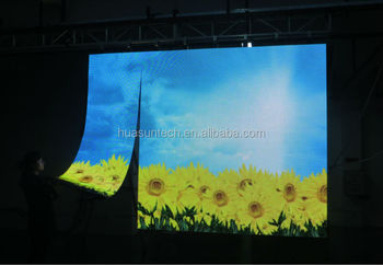 Flexible Led Curtain Display Roll Up Rollable Led Curtain