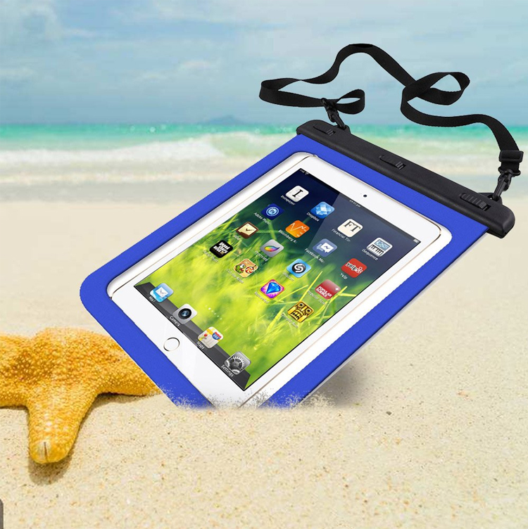 Factory Custom 10inch Tablet Waterproof Bag  For Travel Swimming Hiking