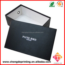 high-end fancy cardboard shoe box , packaging box for shoe