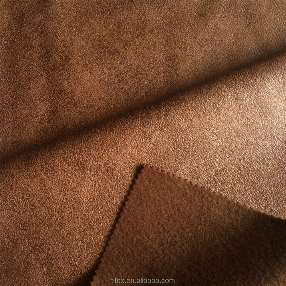 Warp Knitted Foiled Faux Suede Fabric