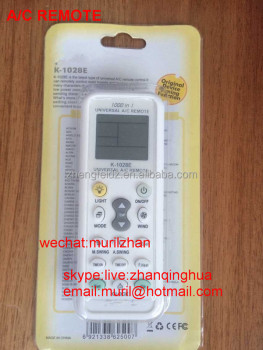 White 15 Key K-1028e 1000 In 1 Universal Air Conditioning Remote ...