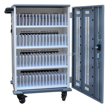 Multi Usb Devices Tablets Smart Storage 60 Device Charging Sync Trolley Cart Cabinet For