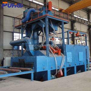 Best selling Q69 roller bed convey shot blasting machine polishing abrator for sale