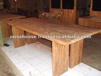 Indonesia Furniture Reclaimed Teak Dining Table