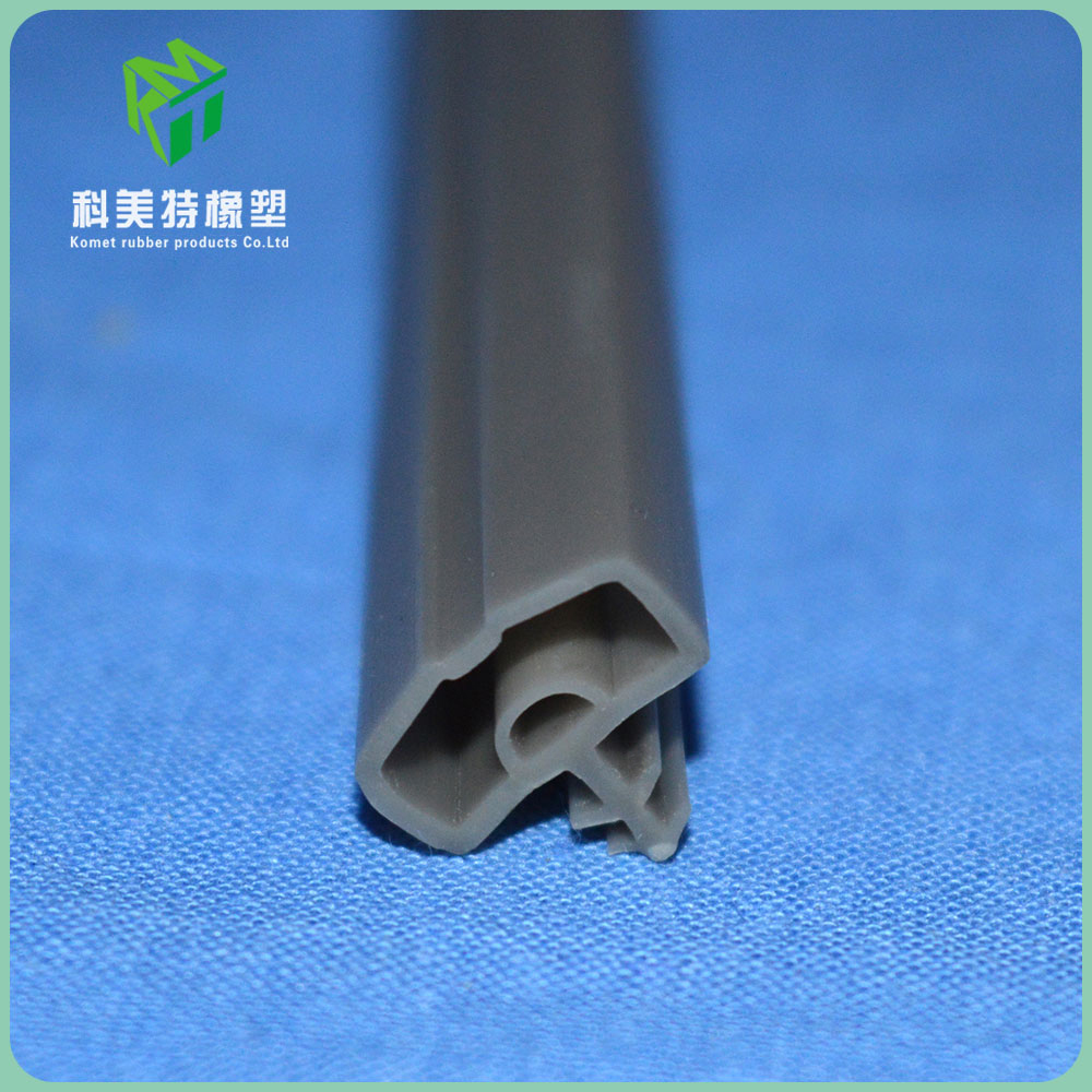 Tightly seal t shaped white rubber glass seal