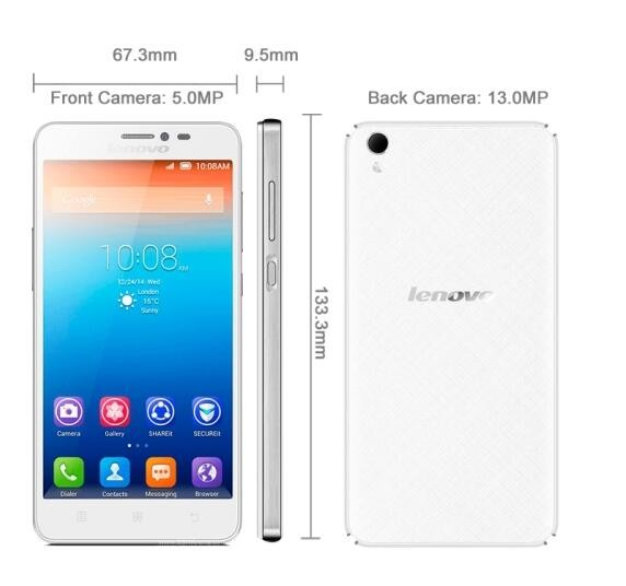 wholesale Original Lenovo S850 Smartphone Android 5.0 Inch 13.0MP Back Camera