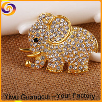 New design zinc alloy Thailand elephant statue brooch