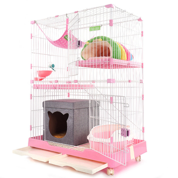 Foldable Indoor Stainless Steel Wire Pet Cat Dog Cage