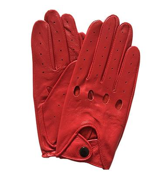 d91b09646 Fashion men and ladies sheepskin leather red driving sport gloves