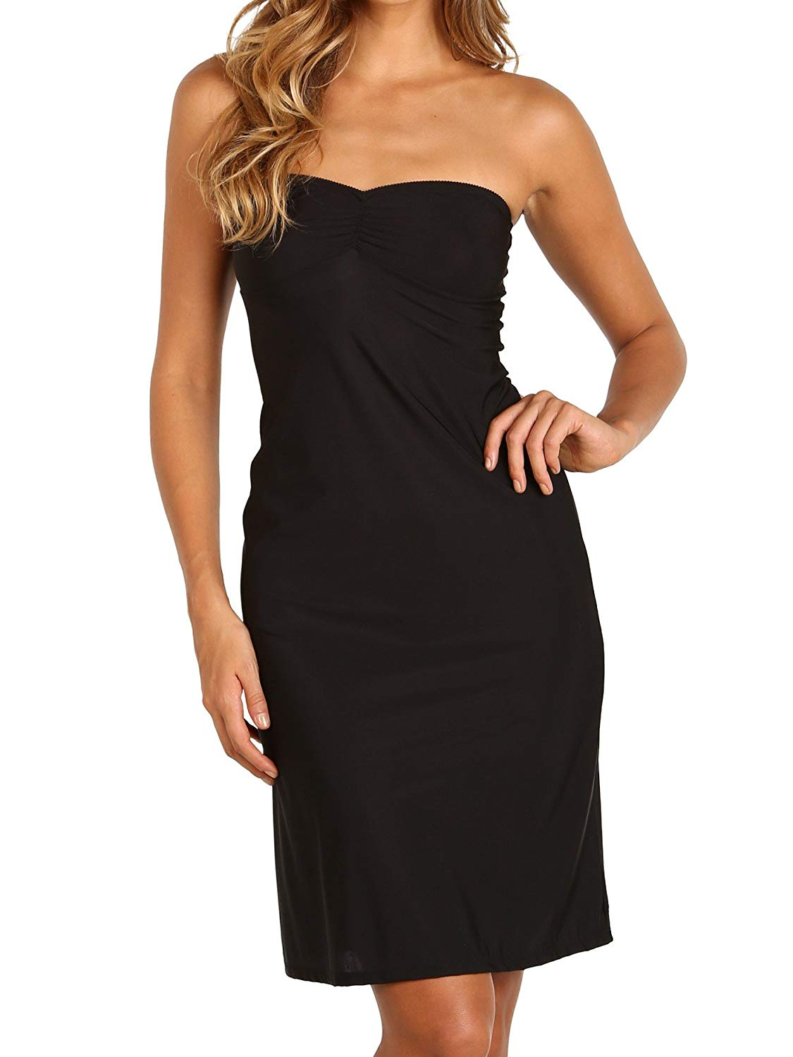 12f9841eb45 Get Quotations · Only Hearts Second Skin Strapless Slip Black