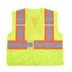 Ansi class 2 construction yellow mesh clothing high visibility reflective security guard hi vis jacket safety vest with pockets