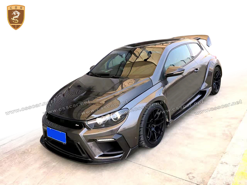 Newest Css Design Wide Body Kit For V W Scirocco In Cf Frp
