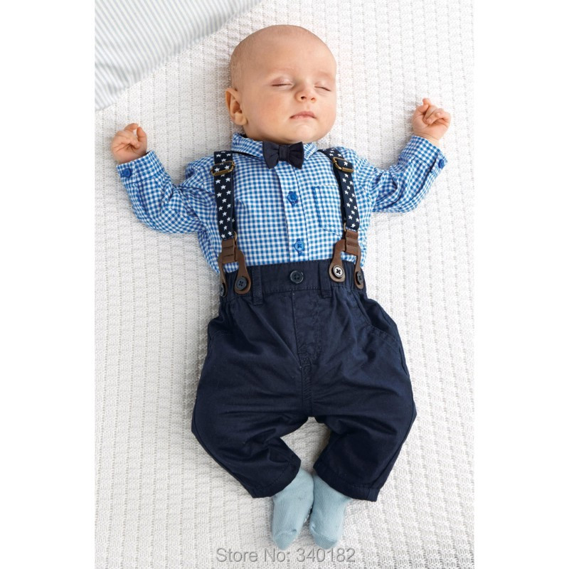 Buy 2015 Autumn baby boy clothes baby clothing gentleman Style bow ...