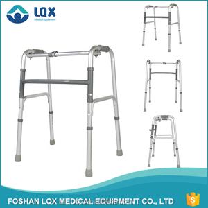 silver old people standing motorized armres walker with knee support