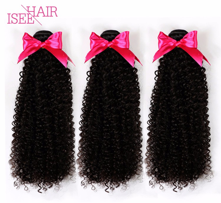Black Cherry Indian Remy Hair Weave Curly Human Hair Extensions