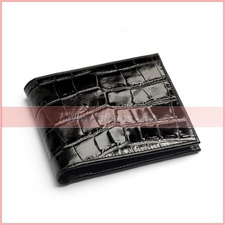 Hot sale Black Cobalt Blue Suede Leather Billfold Coin Wallet