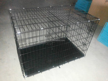 2016 CQX002 2 Doors Dog Folding Cage Kennel With Plastic Tray