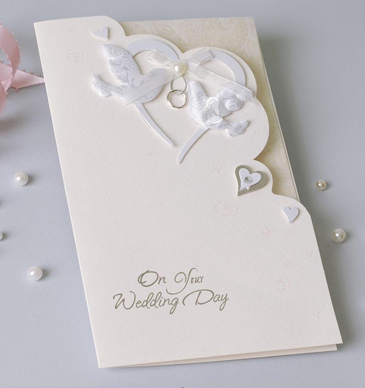 Custom White Elegant Foil Handmade Wedding Invitation Card ...