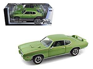1969 Pontiac GTO Judge Green American Muscle 20th Anniversary Edition 1/18 Model Car by Autoworld