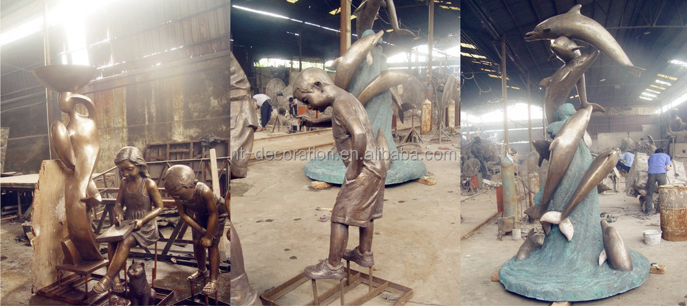 Life Size Bronze Garden Golf Statues NTBH S798S